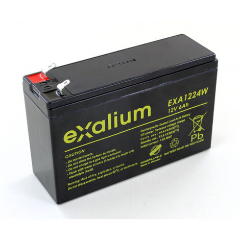 Batterie plomb 12V 6Ah EXALIUM EXA1224W F1- F2+