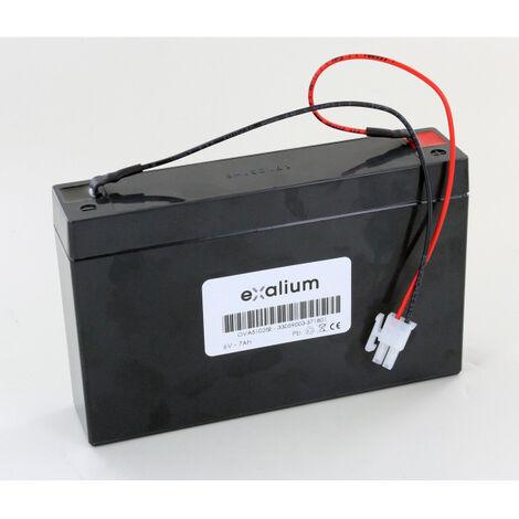 Batterie Plomb 6 V 7Ah OVA51025E pour BAES Guardian OVA