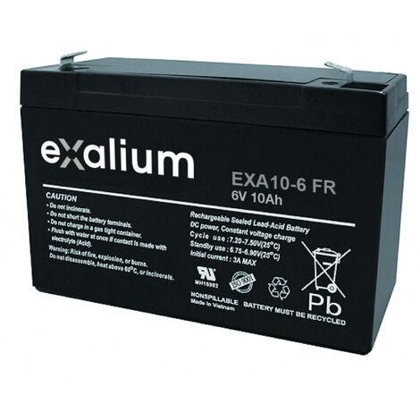 Batterie plomb 6V 10Ah V0 Exalium EXA10-6FR
