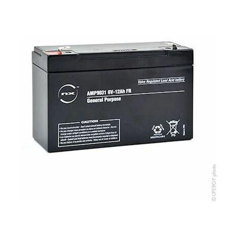 Batterie plomb 6V 12Ah étanche AGM NX AMP9031 NEUVE