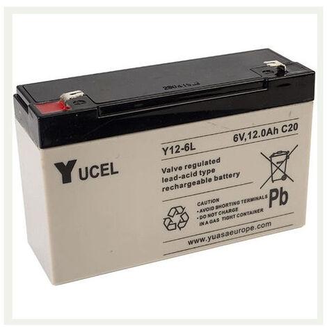Batterie plomb 6V 12Ah Yuasa Y12-6L