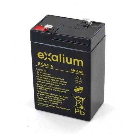 Batterie Plomb 6V 4Ah Exalium EXA4-6