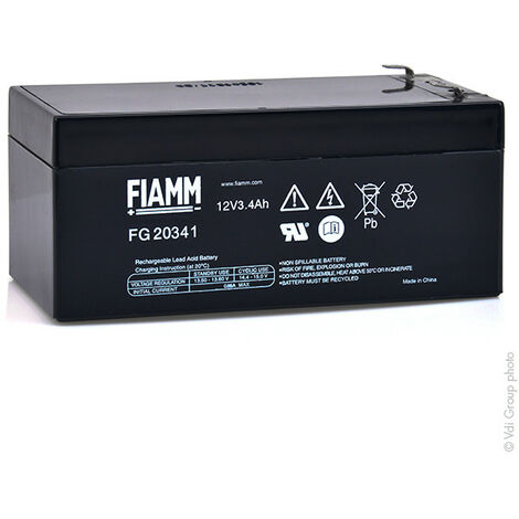 Batterie plomb AGM FIAMM FG20341 12V 3.4Ah F4.8