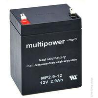 Batterie plomb AGM MP2.9-12 12V 2.9Ah F4.8