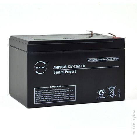 12FGH50 12V 12Ah Batterie Plomb étanche Décharge Rapide AGM
