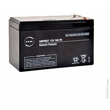 Batterie plomb AGM NX 7-12 General Purpose FR 12V 7Ah F4.8