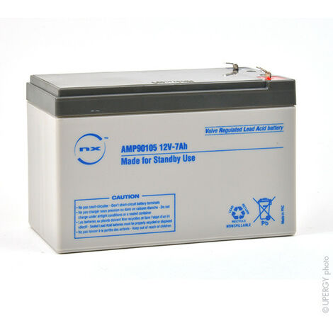 Batterie plomb AGM NX 7-12 Standby 12V 7Ah F4.8
