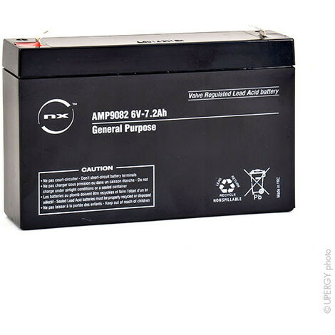 Batterie plomb AGM NX 7.2-6 General Purpose 6V 7.2Ah F4.8