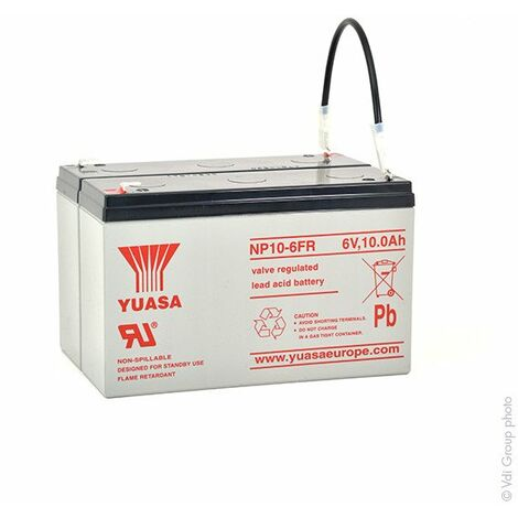 Batterie plomb AGM YUASA NP10-12FR 12V 10Ah F4.8