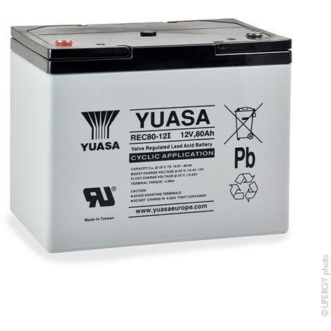 Batterie plomb AGM YUASA REC80-12 12V 80Ah M6-F