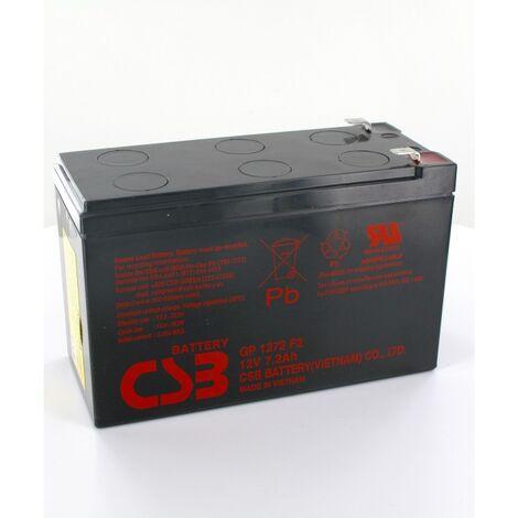 Batterie plomb CSB 12V 7.2Ah GP1272 cosses standard