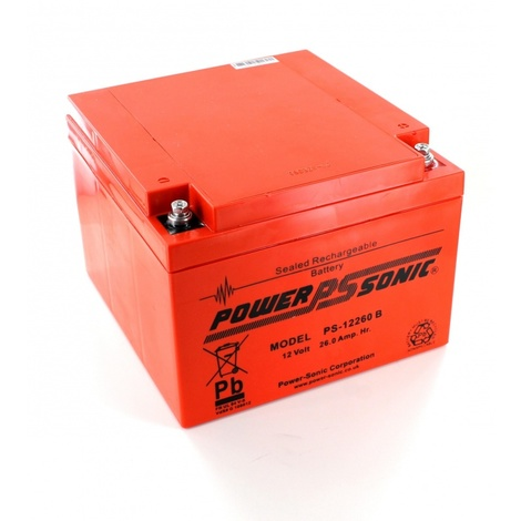 Batterie Plomb étanche 12V 26Ah Power Sonic PS-12260