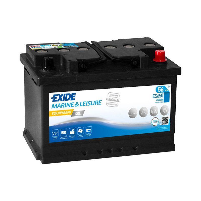 Batterie décharge lente Exide Gel ES650 12v 56ah