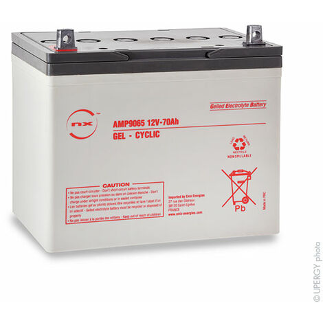 Batterie plomb etanche gel NX 70-12 Cyclic 12V 70Ah M6-M
