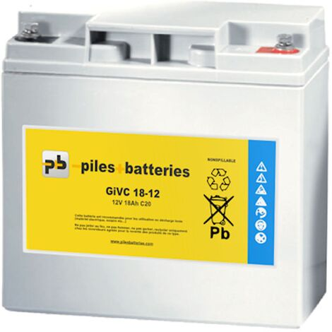 Batterie plomb étanche GiVC12-20 12V 20Ah pour chariot de golf
