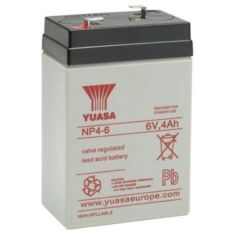 Batterie plomb étanche NP4-6 Yuasa 6V 4ah