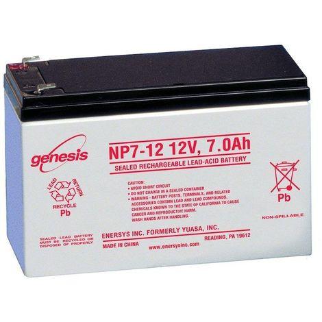 BATTERIE PLOMB ÉTANCHE NP12-12 ENERSYS  12V 12AH