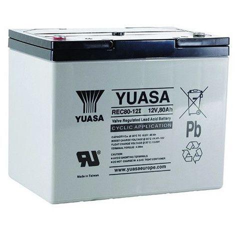 Batterie plomb étanche REC80-12 Yuasa 12v 80ah