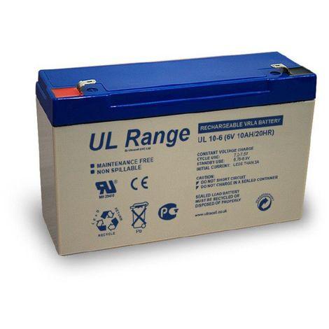 Batterie plomb étanche UL10-6 Ultracell 6v 10ah