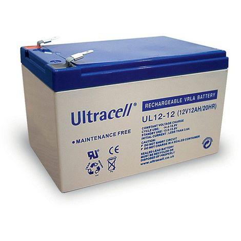 Batterie plomb étanche UL12-12 Ultracell 12v 12ah