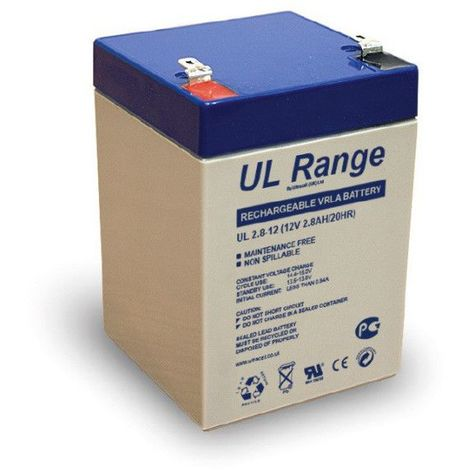 Batterie plomb étanche UL2.8-12 Ultracell 12v 2.8ah