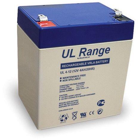 Batterie plomb étanche UL4-12 Ultracell 12v 4ah