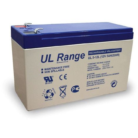 Batterie plomb étanche UL5-12L Ultracell 12v 5ah