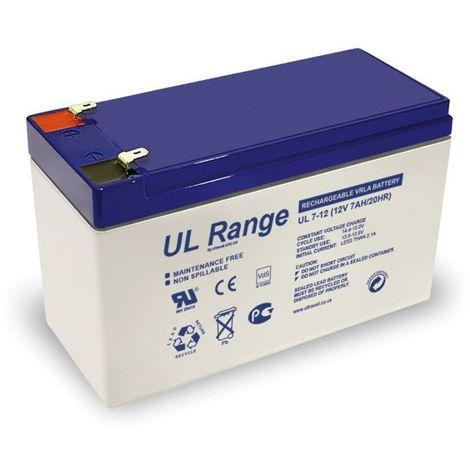 Batterie plomb étanche UL7-12 Ultracell 12v 7ah