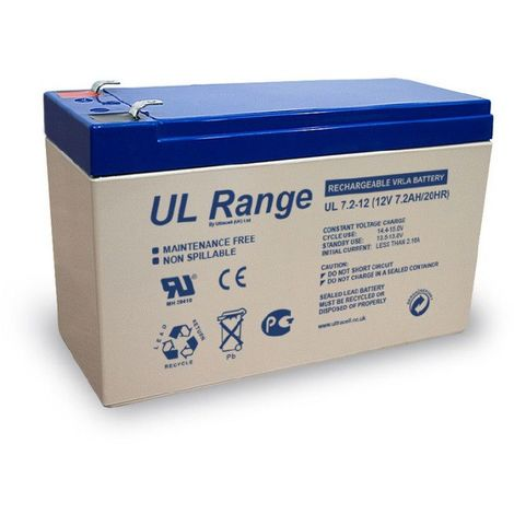 Batterie plomb étanche UL7.2-12 Ultracell 12v 7.2ah