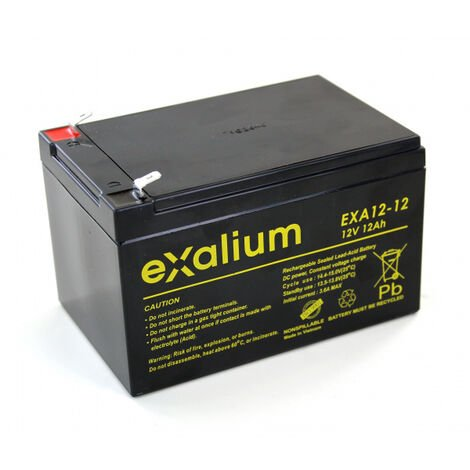 Batterie plomb Exalium 12V 12Ah EXA12-12FR V0