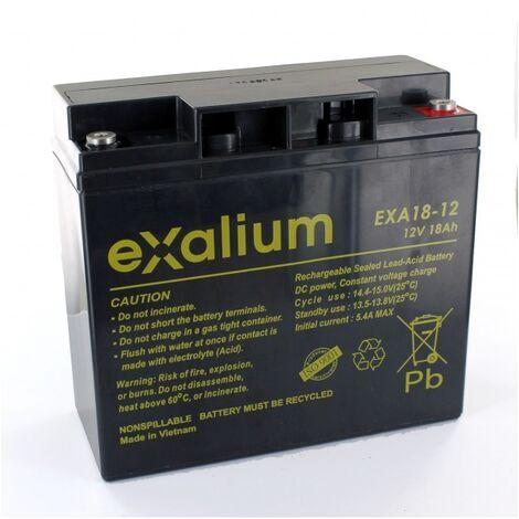 "main image of ""Batterie plomb Exalium 12V 18Ah EXA18-12FR"""