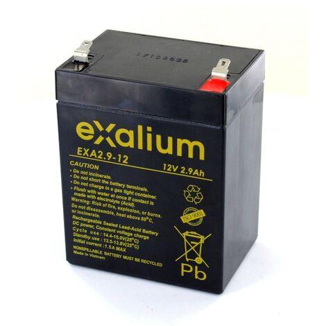 Batterie plomb Exalium 12V 2.9Ah EXA2.9-12