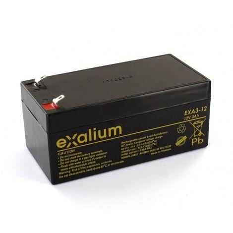 "main image of ""Batterie plomb Exalium 12V 3Ah EXA3-12"""