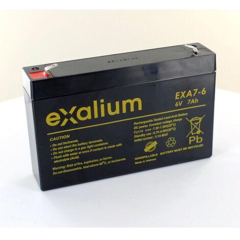 Batterie Plomb Exalium 6V 7Ah EXA7-6