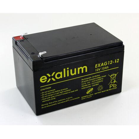 Batterie plomb Gel 12V 12Ah Exalium EXAG12-12