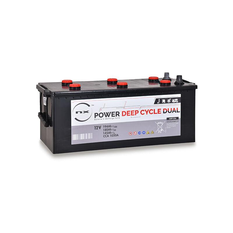 Nx ™ - NX - Batterie traction NX Power Deep Cycle DUAL 12V 180Ah Auto