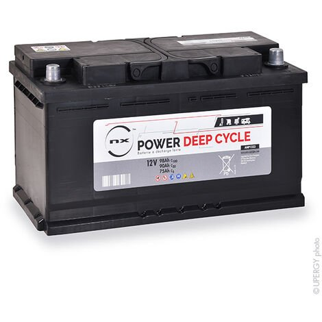 Batterie plomb ouvert NX Power Deep Cycle 12V 90Ah Auto
