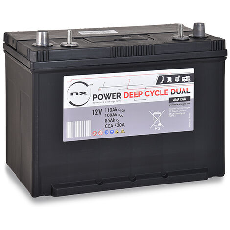Batterie plomb ouvert NX Power Deep Cycle DUAL 12V 85Ah