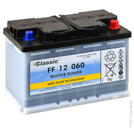 Batterie plomb traction MARATHON Classic FF12060 12V 60Ah Auto