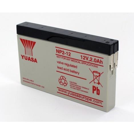 Batterie Plomb Yuasa 12V 2Ah NP2-12
