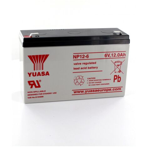 Batterie Plomb Yuasa 6V 12Ah NP12-6