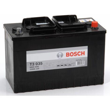 Batterie poids lourd Bosch 12V 110 Ah 680 A Réf: 0092T30350
