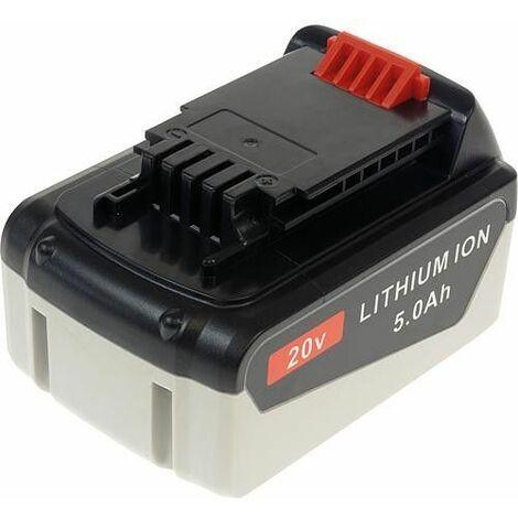 Batterie pour Black&Decker Li-Ion 20V 5,0 Ah