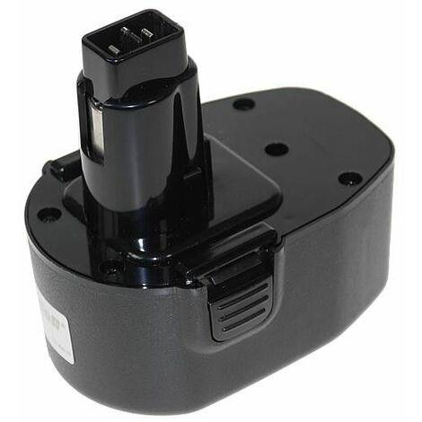 Batterie pour Black&Decker Ni-MH 14,4V 2000mAh (A)