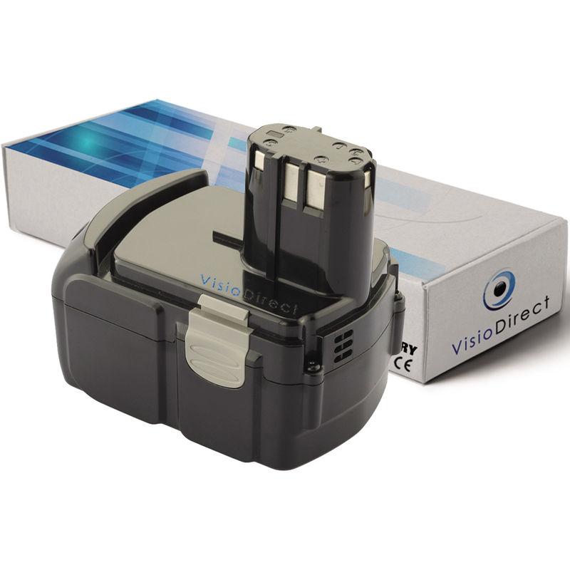 Visiodirect - Batterie pour Hitachi CR 18DLX CR 18DMR CR 18DV CR18DL CR18 DLP4 3000mAh 18V