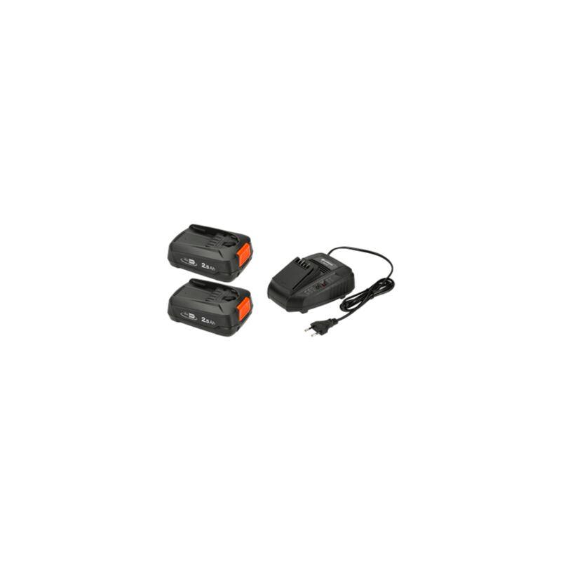 Batterie pour outil et chargeur GARDENA P4A 2 x PBA 18V/45 2,5 Ah + AL 1830 CV 14907-20 18 V 2.5 Ah Li-Ion 1 pc(s)