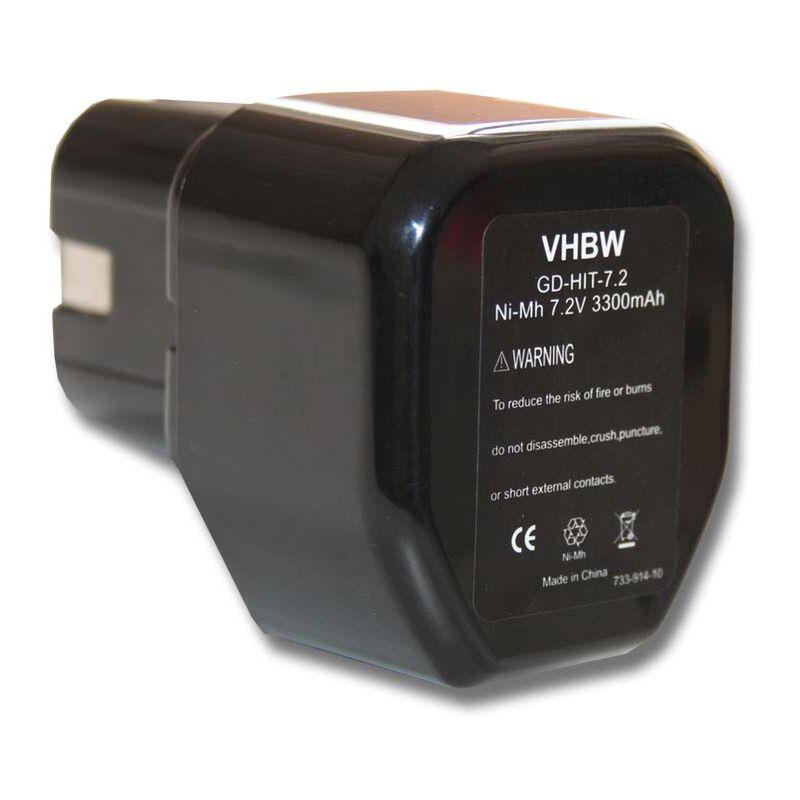 vhbw Batterie compatible avec Stanley Bostitch GCN40T, GF28WW, GF33PT outil électrique (3300mAh NiMH 7,2V)