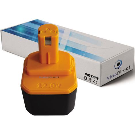 Batterie pour Ryobi Paslode BID1225 outillage portatif 3300mAh 12V