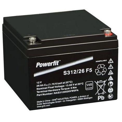 Batterie Powerfit plomb 12V 26Ah