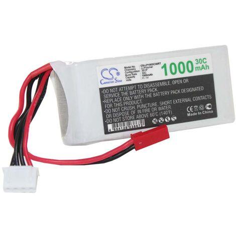Batterie RC modélisme Li-Polymer LiPo 1000mAh 11.1V pour modèles de voitures de courses, hélicoptères, avions, maquettes de bateaux, etc.